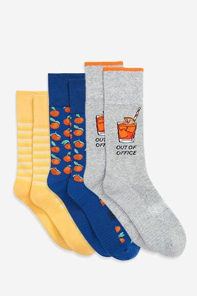 Cotton Blend Dress Socks 3-Pack