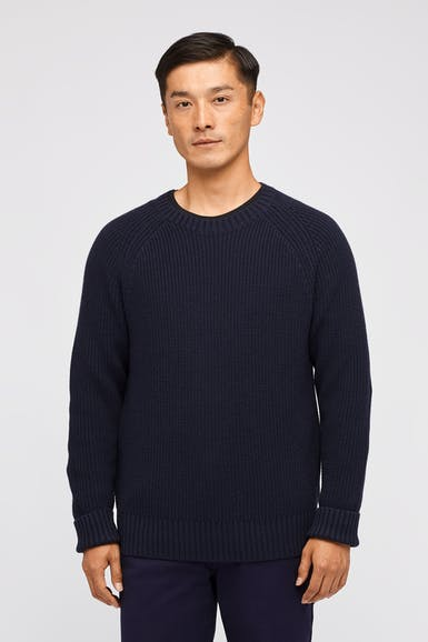 Cotton Cashmere Raglan Sweater