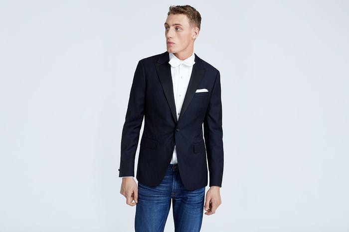 Editorial photo for Black Tie, Dark Jeans category