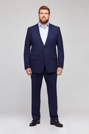 Jetsetter Stretch Italian Wool Suit Extended Sizes