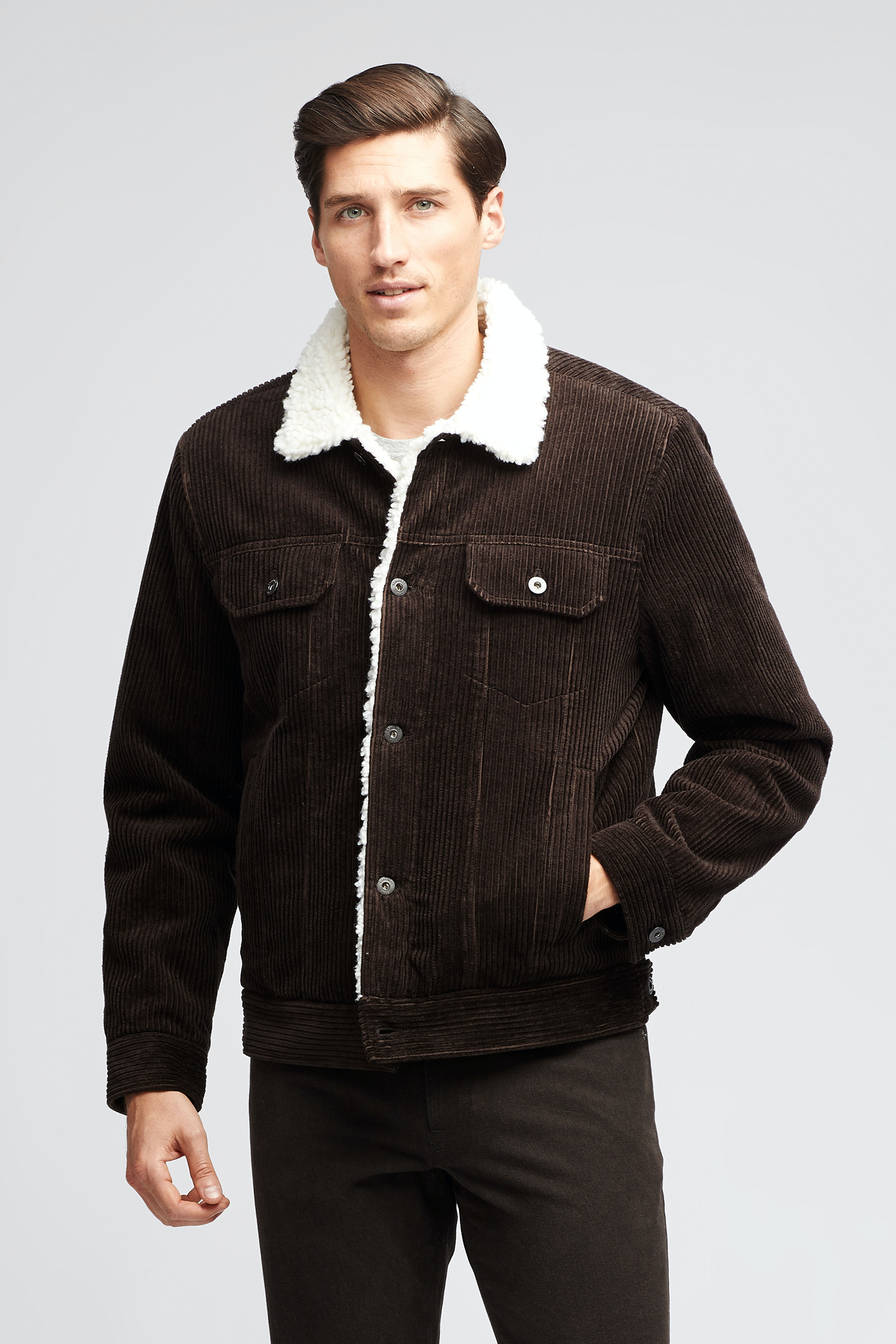 The Shearling Cord Jacket