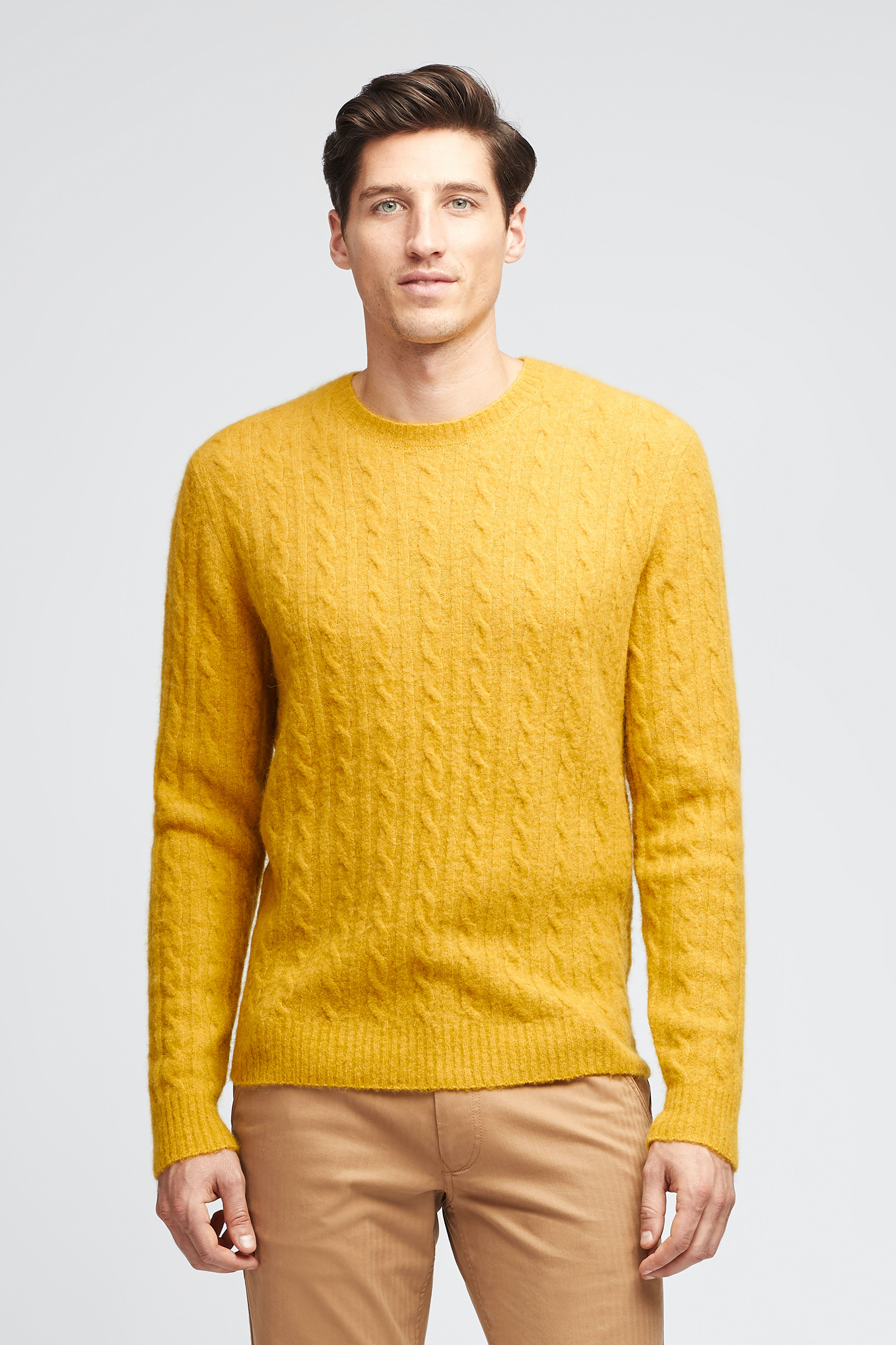 Wool Blend Cable Crew