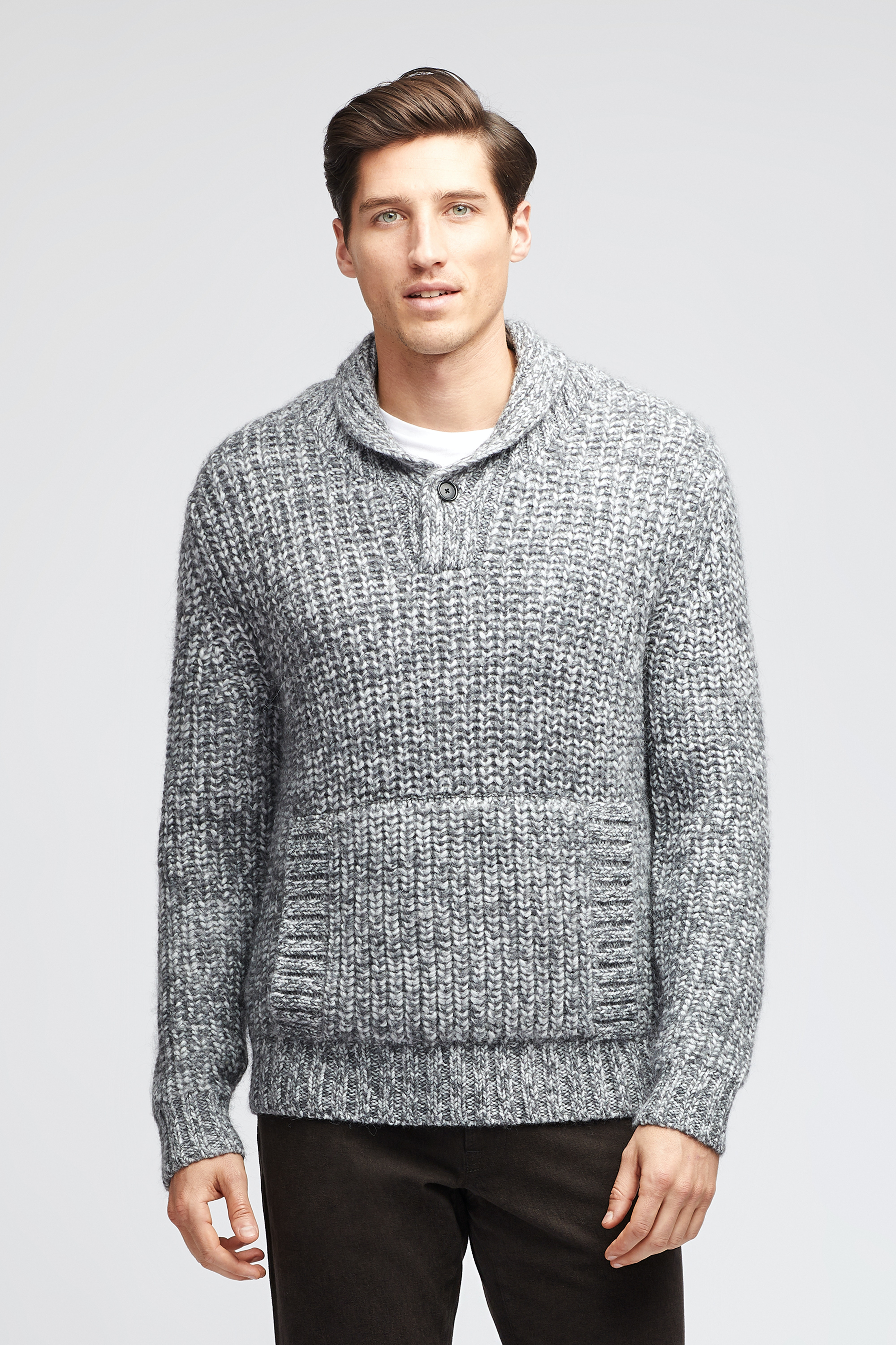 Wool Blend Chunky Popover Sweater
