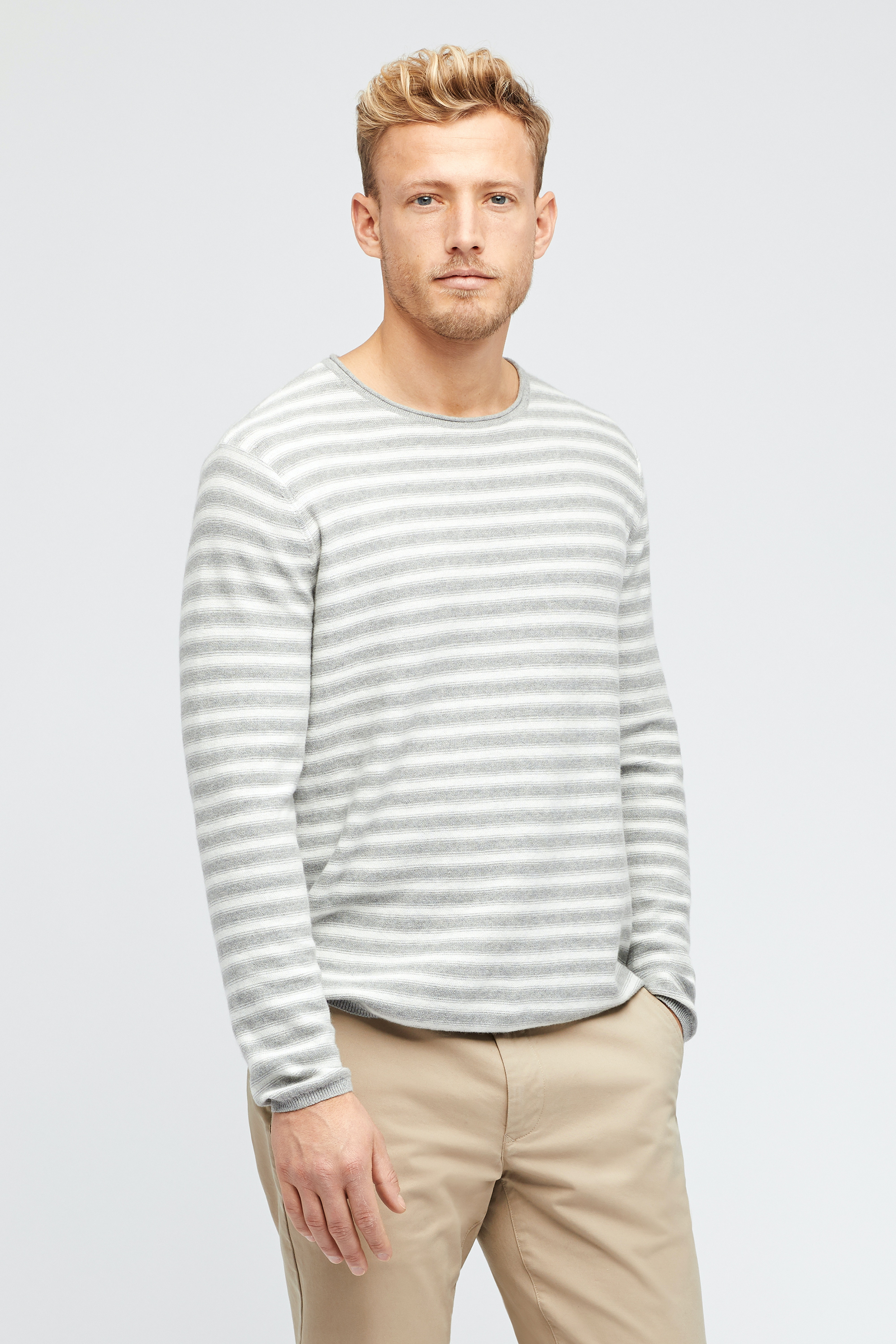 Cotton Cashmere Roll Neck Sweater