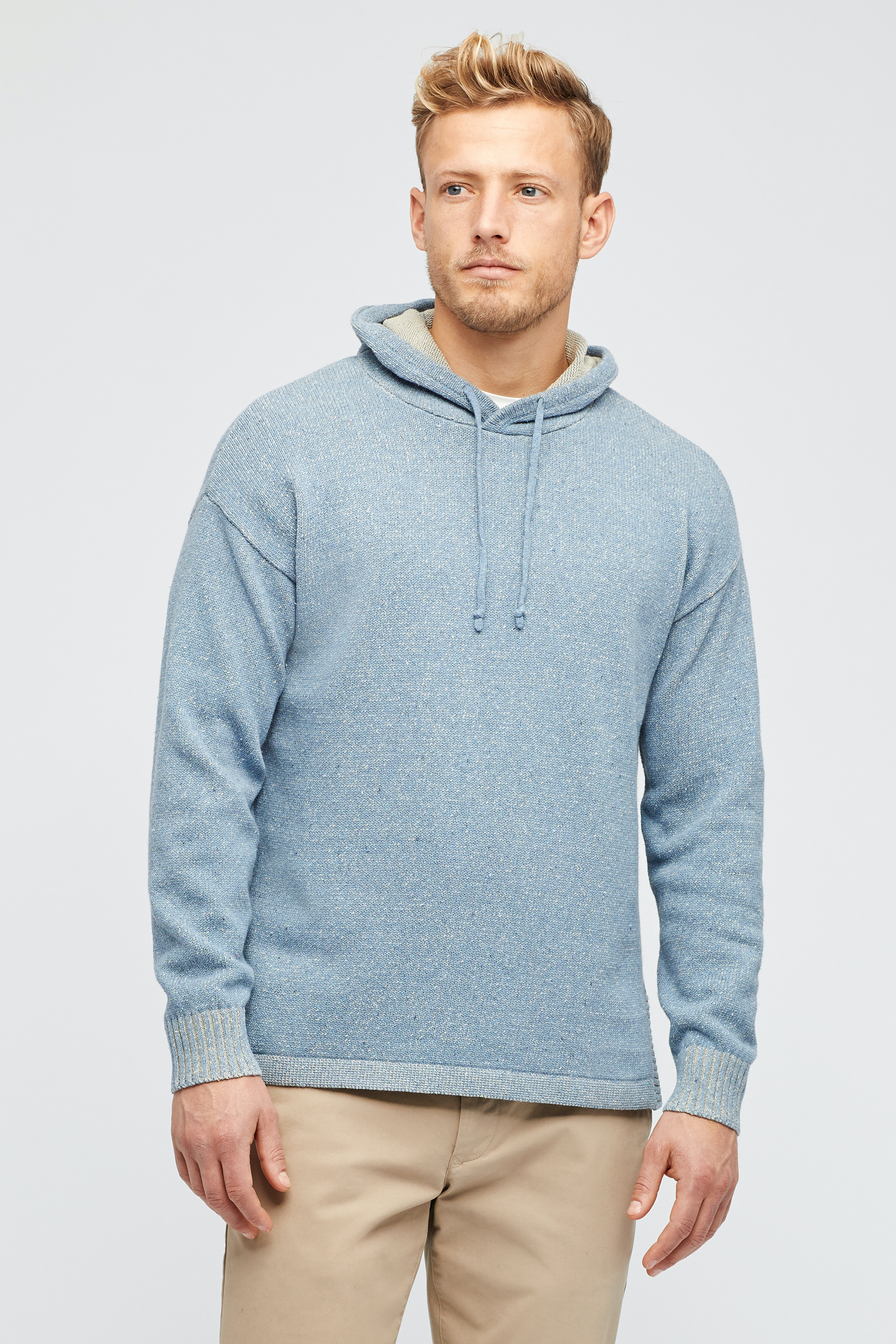 Cotton Poncho Hoodie Sweater