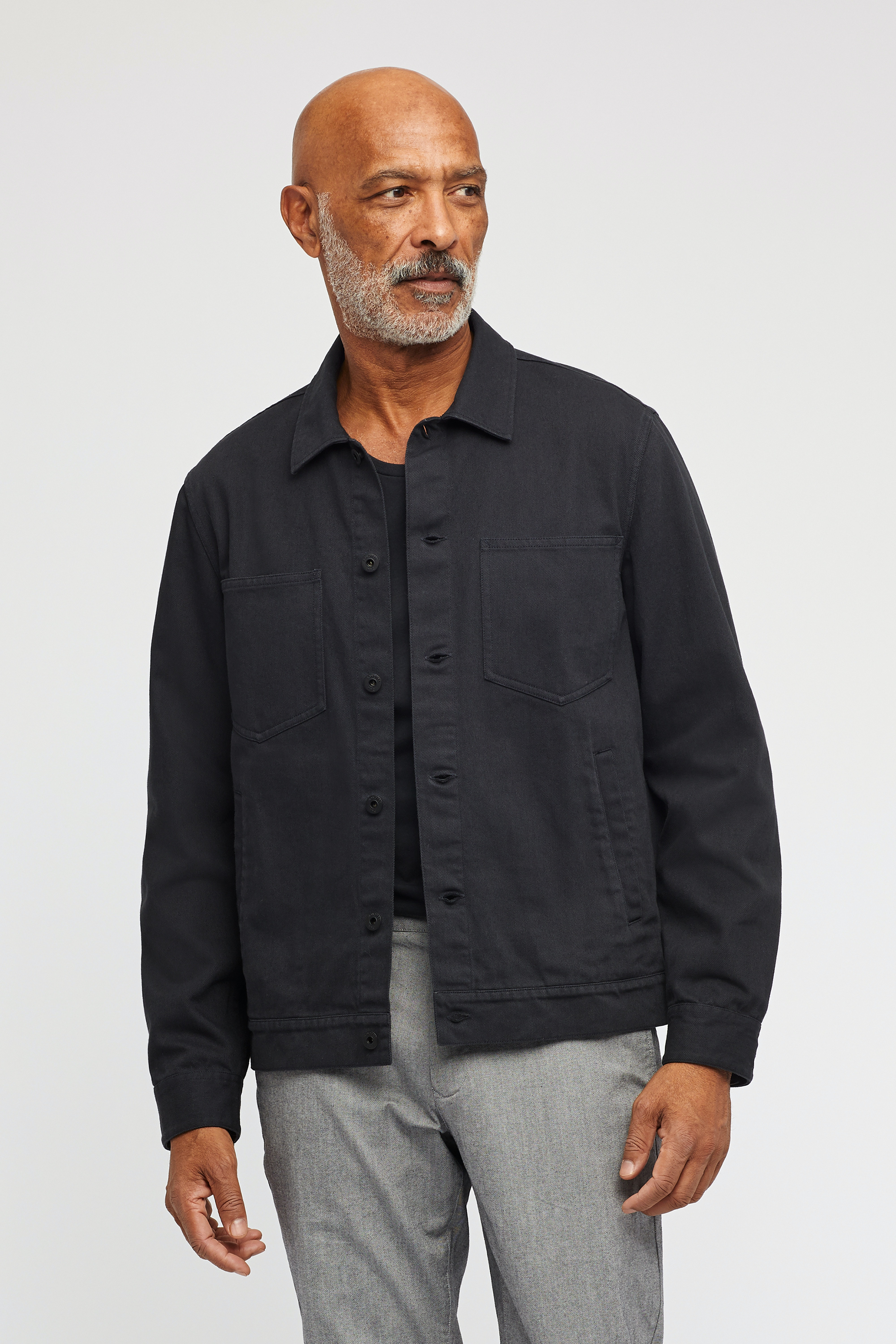 The Garment Dyed Denim Cargo Jacket