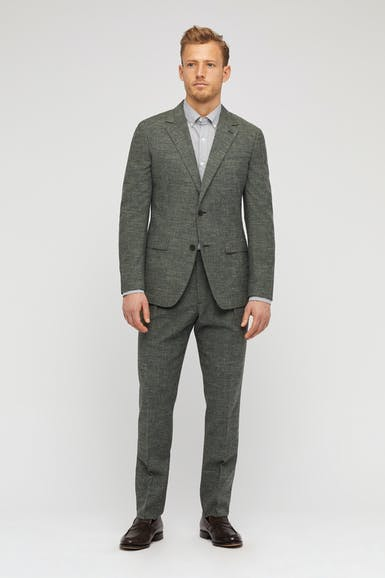 Textured Wool Blend Suit