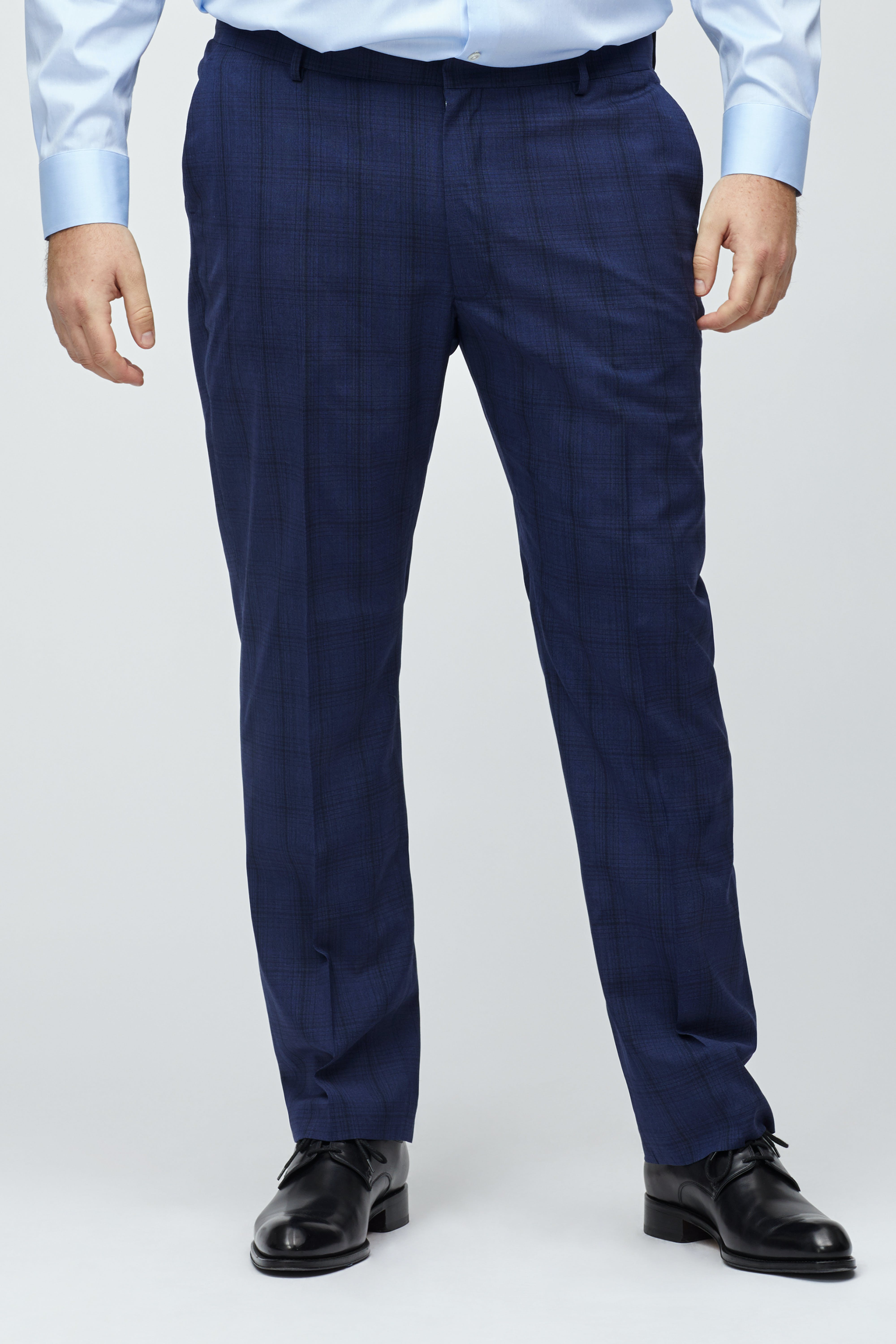 Italian Stretch Wool Dress Pants Extended Sizes