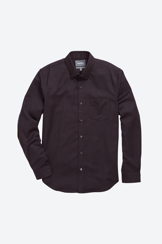 Unbutton Down Wool Shirt