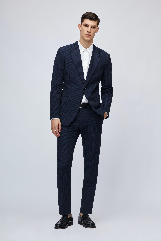 Lightweight Italian Seersucker Suit Jacket thumbnail