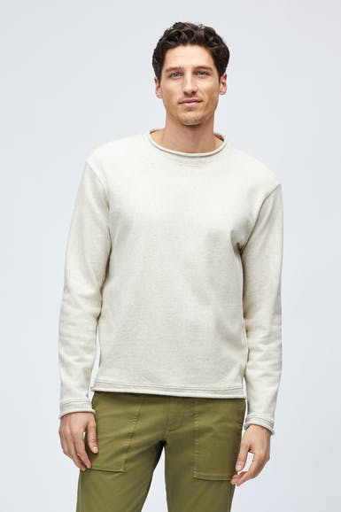 Cotton Linen Roll Neck Crew