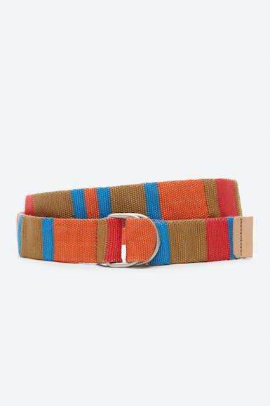Stripe D-Ring Webbing Belt