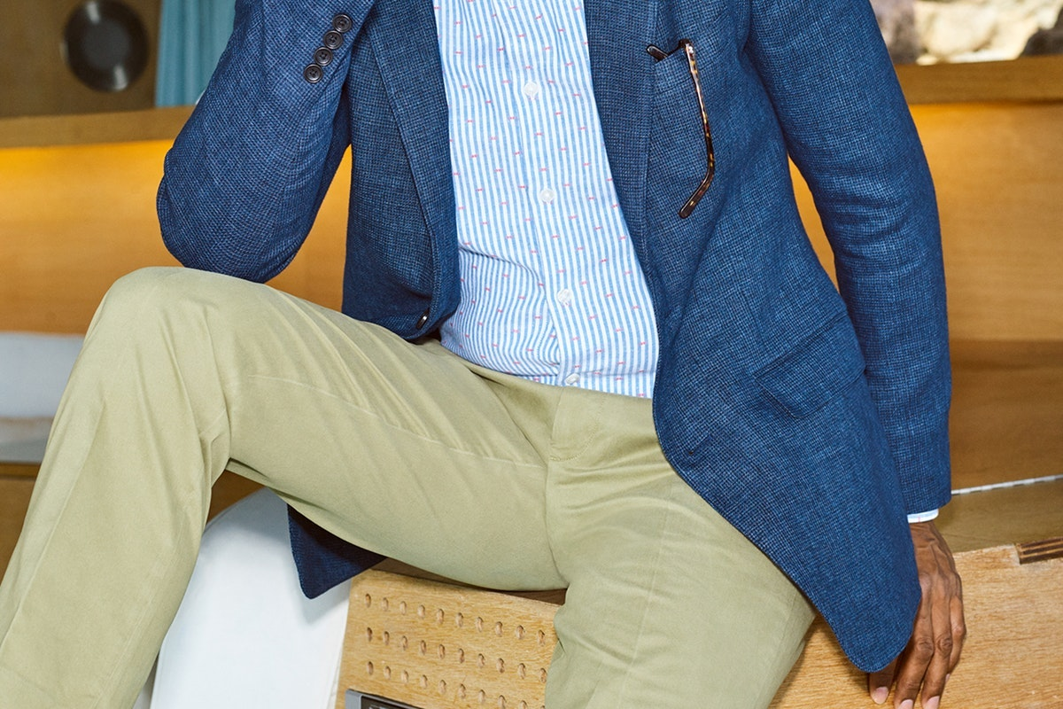 Editorial photo for Premium Stretch Chinos category