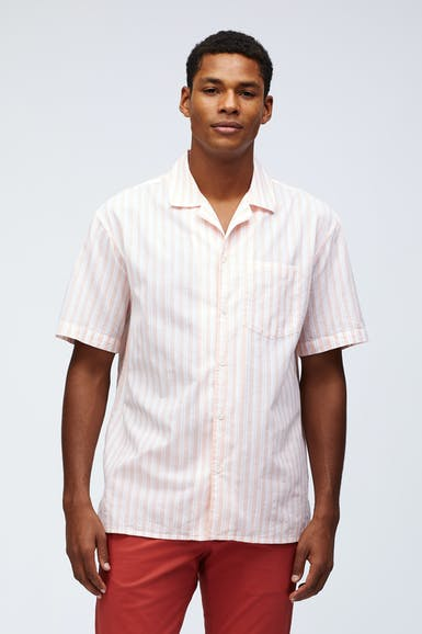 Relaxed Fit Camp Collar Shirt