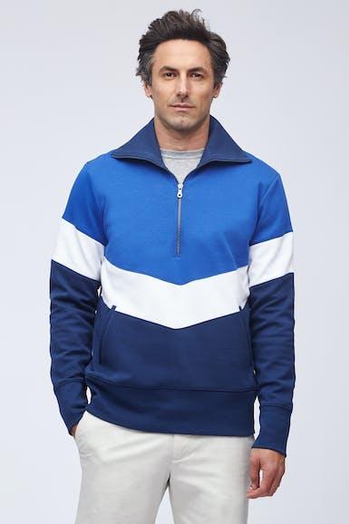 Colorblock Track Half-Zip Pullover
