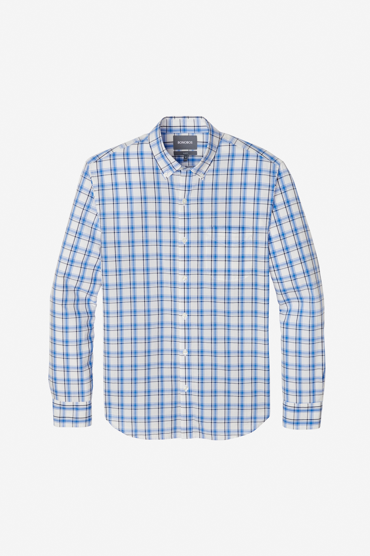 Mens Short Sleeve Shirt Plaid Checkered Slim Fit Button Down Dress Casual NWT