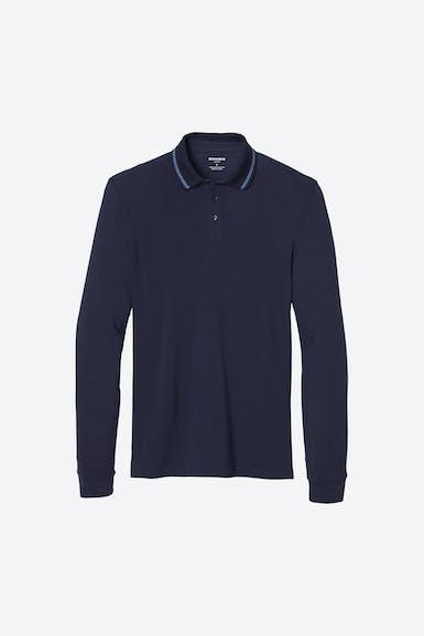 Superfine Pique Long Sleeve Polo