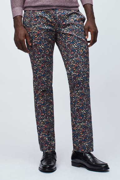 Premium Stretch Trousers Made with Liberty Fabric