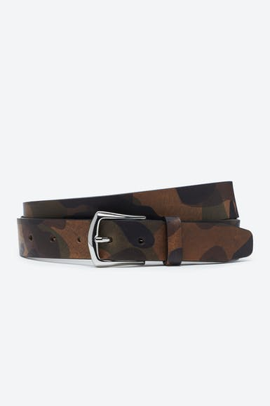 Camo Leather Belt