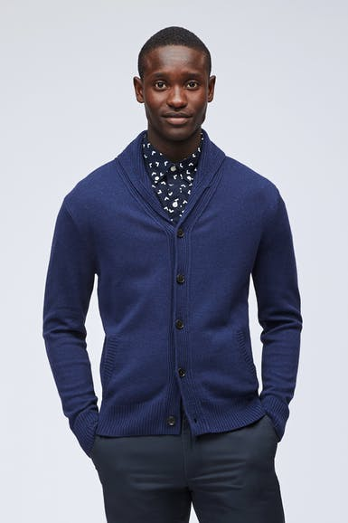 Cotton Cashmere Shawl Cardigan