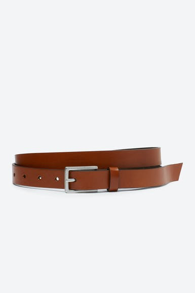 Suede Lined Leather Belt