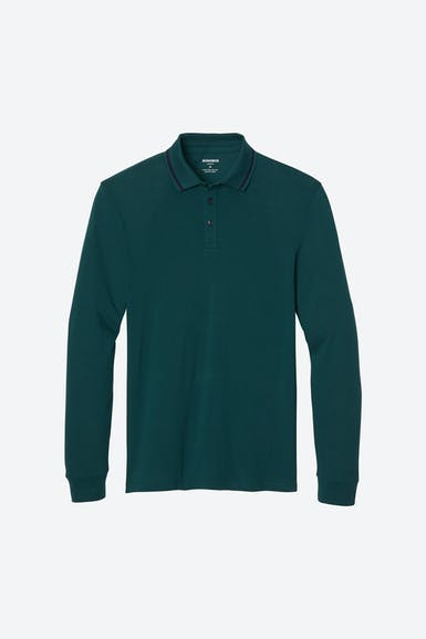Superfine Pique Long Sleeve Polo