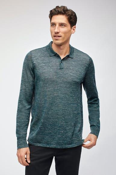 Wool Linen Polo Sweater