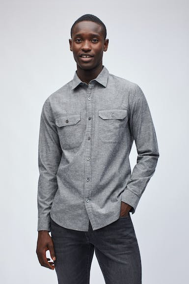 Flecked Chambray Shirt