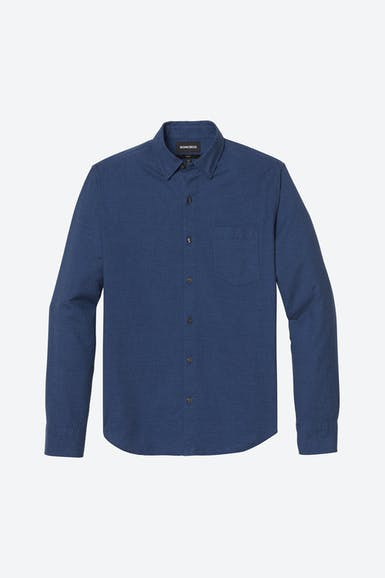 Brushed Button-Down Shirt Extended Sizes