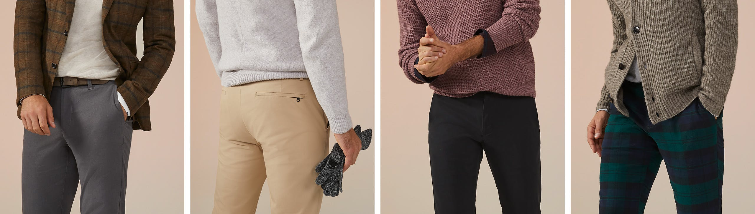 Header showing products for the Holiday Chinos category