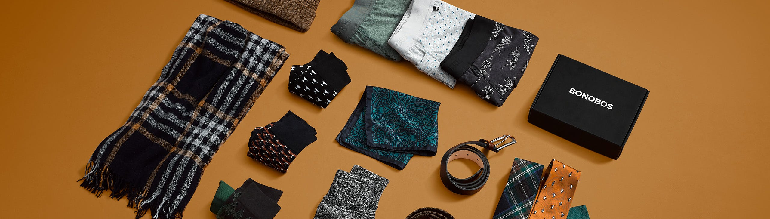 Header showing products for the Hats, Gloves, & Scarves category