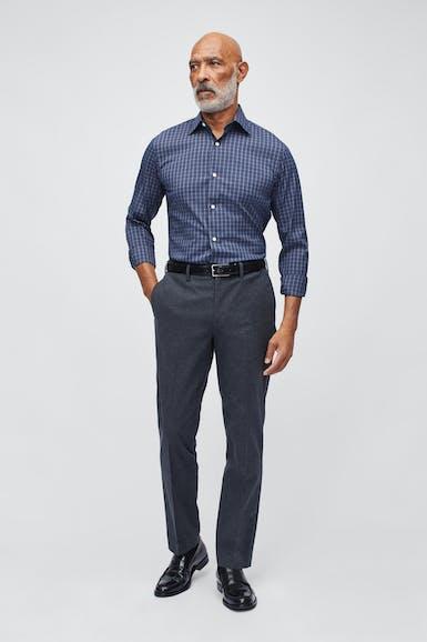 Stretch Italian Yarn Dye Trouser