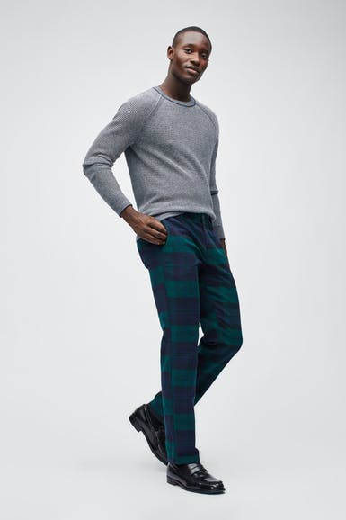 Flannel Tartan Stretch Chinos