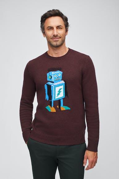 Robot Crew Neck Sweater