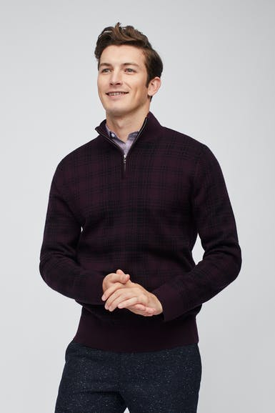 Washable Merino Half-Zip Sweater