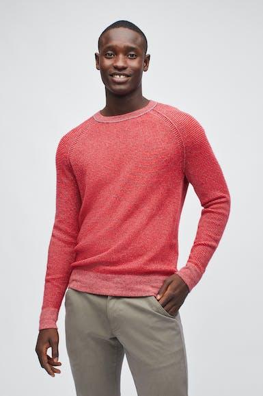 Cashmere Waffle Crew Neck Sweater