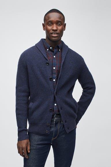 Yak Blend Shawl Cardigan Sweater
