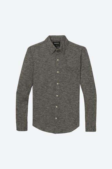 Marled Jersey Button-Down