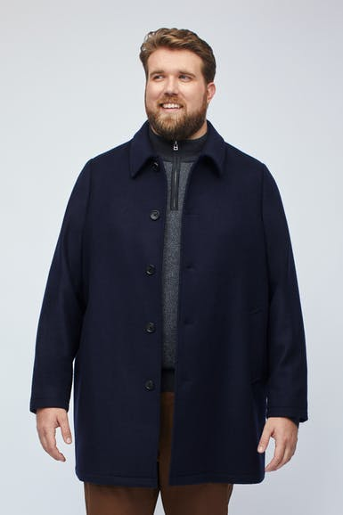 The Italian Wool Car Coat Extended Sizes