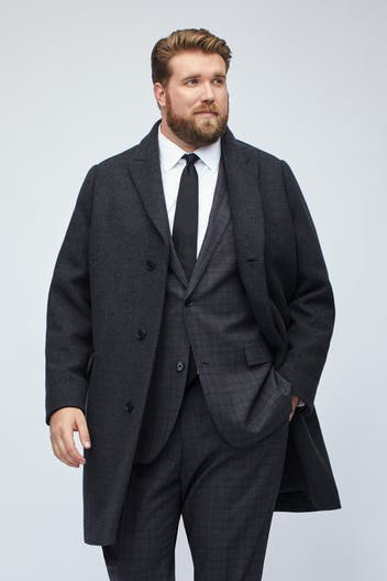 The Stretch Italian Wool Topcoat Extended Sizes