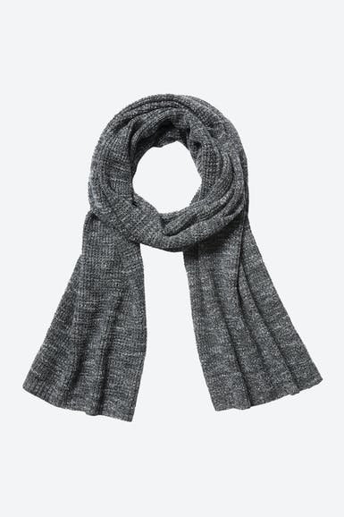 Wool Cashmere Waffle Knit Scarf