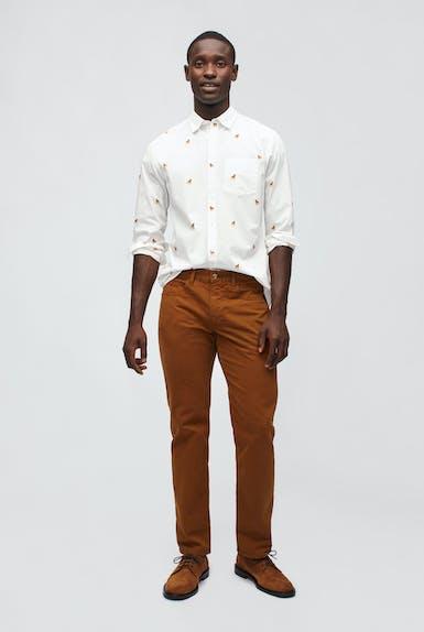 Italian Brushed 5-Pocket Pants