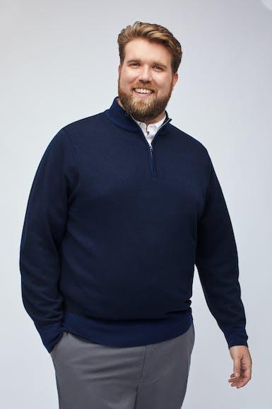 Merino Half-Zip Sweater Extended Sizes
