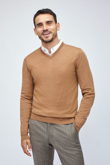 Washable Merino V-Neck Sweater
