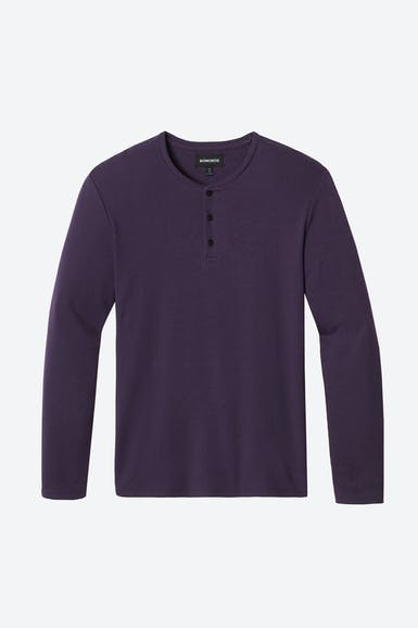 Herringbone Long Sleeve Henley