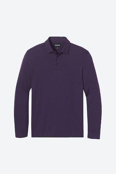 Herringbone Long Sleeve Polo