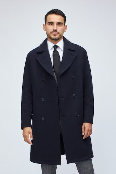Wool Double Breasted Topcoat