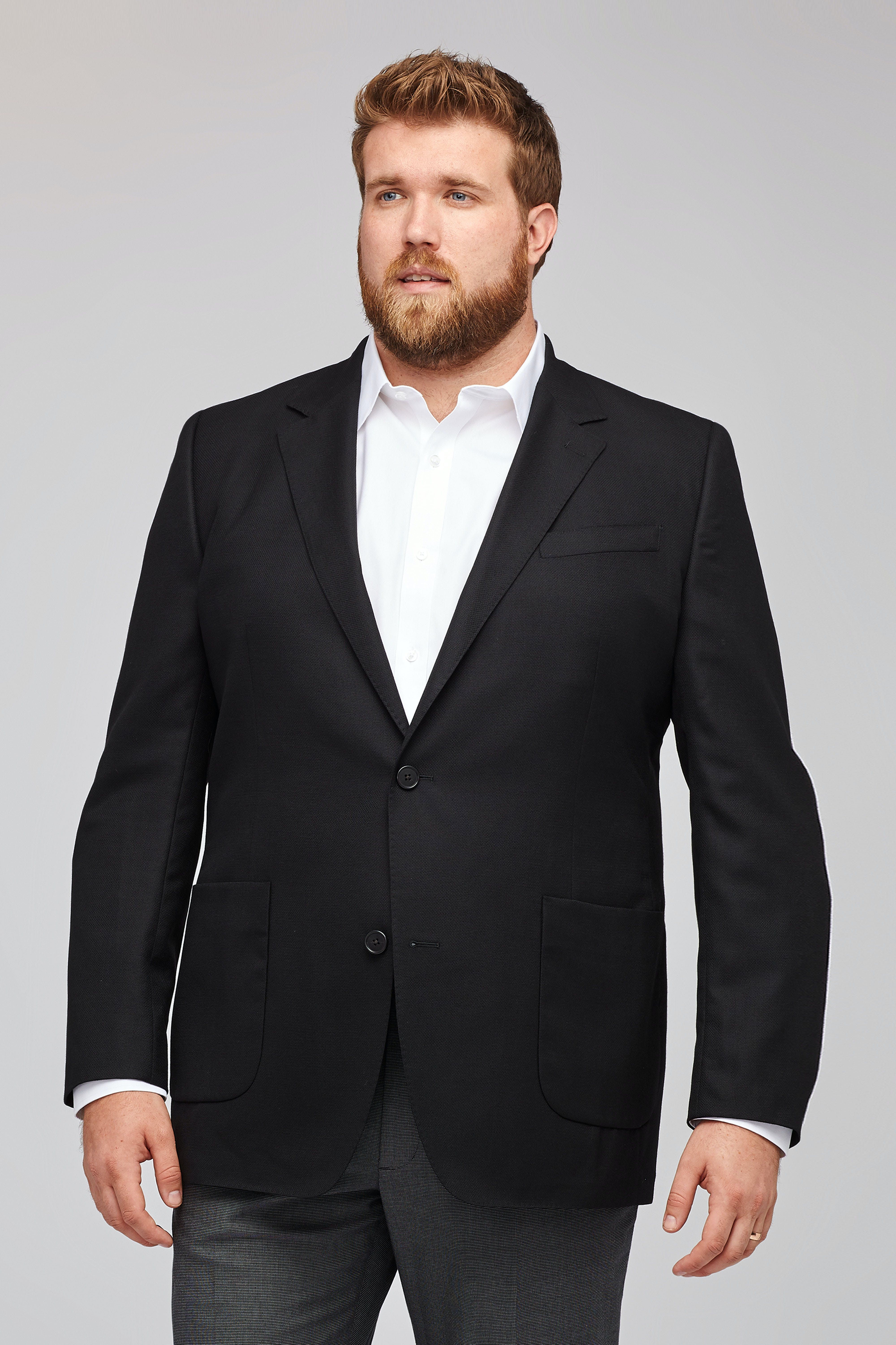 Unconstructed Italian Wool Blazer Extended Sizes