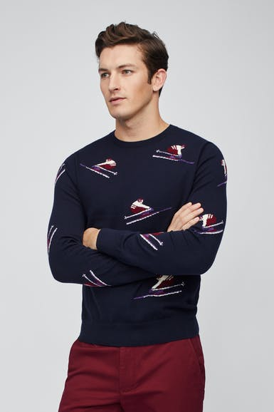 Skier Crew Neck Sweater