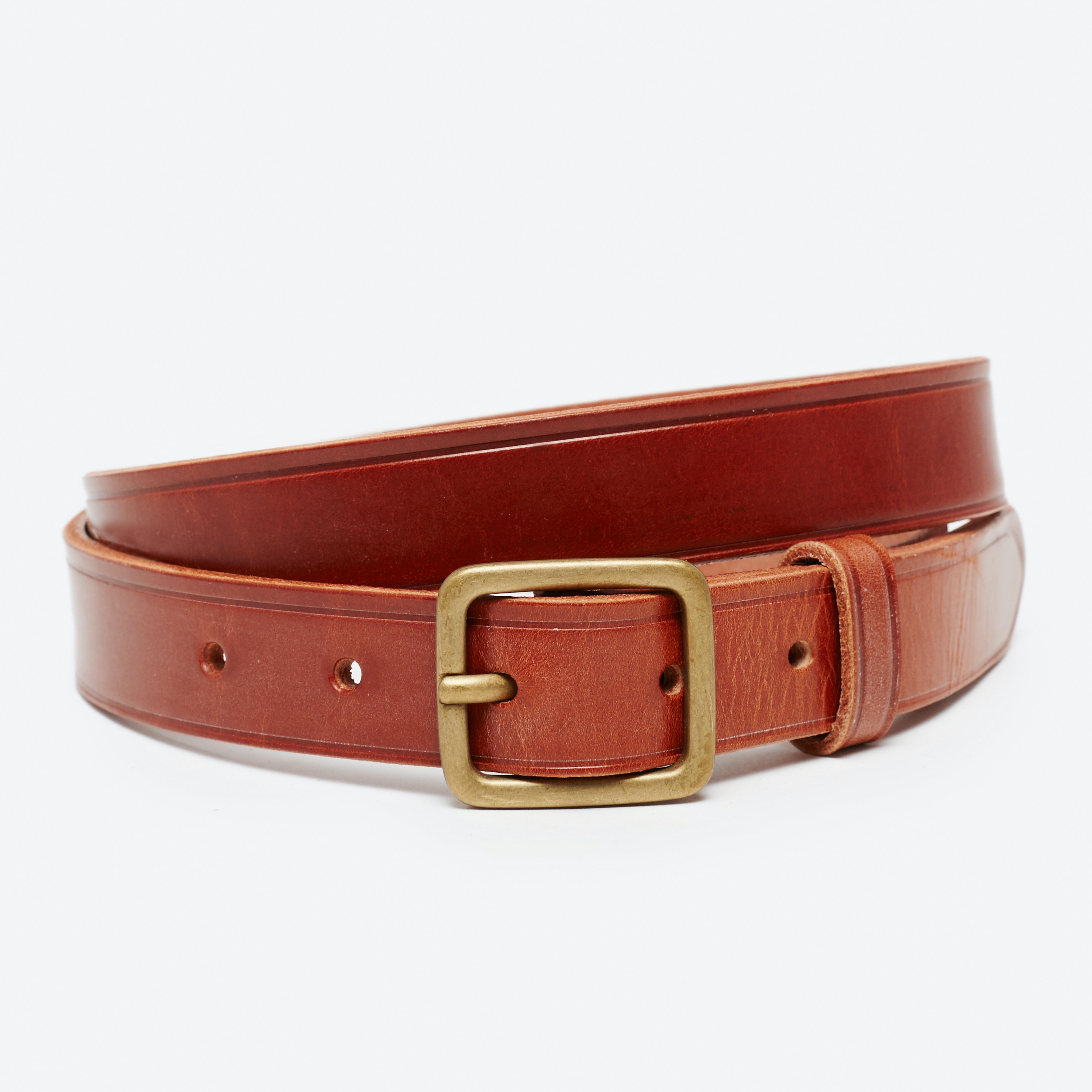 Narrow Leather Dress Belt